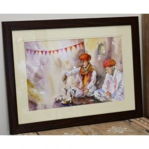 Traditional Jaggery Soaking Ceremony Painting