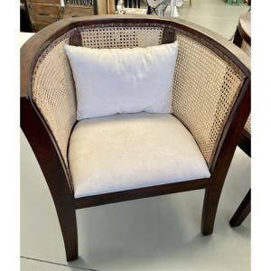 Traditional Wooden Cane Armchair