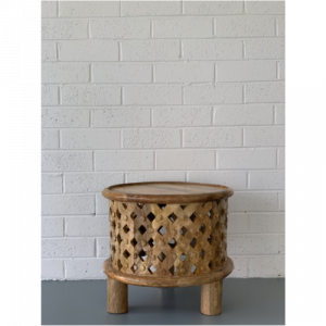 Wooden Round Side Table
