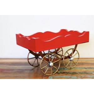 Wooden Red Cart