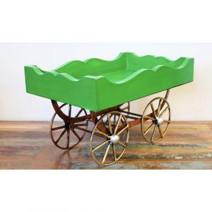 Wooden Green Cart