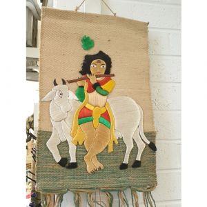 Krishna Cloth Wall Piece