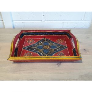 Small Hand Painted Tray (Assorted colours)