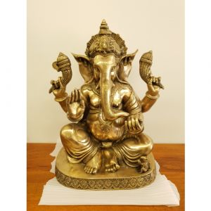 Brass Ganesha Idol
