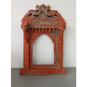 Peacock Antique Jharokha (Red)