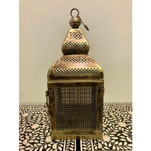 Iron Jali Lantern with Door (Small)