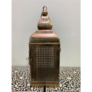 Iron Jali Lantern with Door (Large)