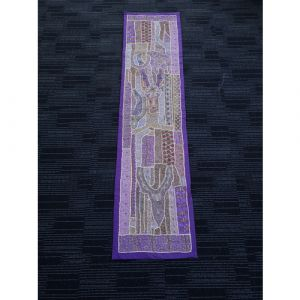 Hand Stitched Table Runner (Purple)