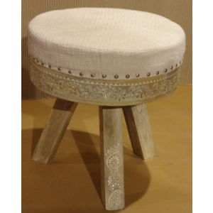 Wooden Painted Stool Cushion Seat