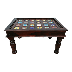 Wooden hand carved coffee table
