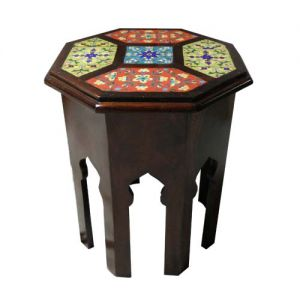 Wooden Octagon Tile Fitted Stool (21'' Height)