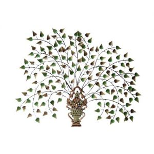 Iron Plant With Pot Wall Decor