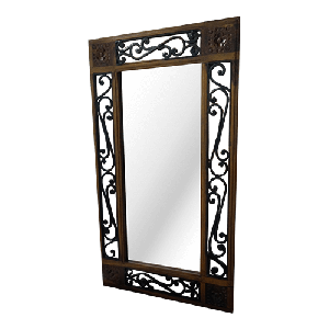 Wooden Iron Jali  Mirror