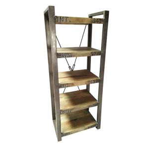 Book Shelf  Wooden Iron