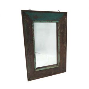 Square Mirror Frame Reclaim Wood