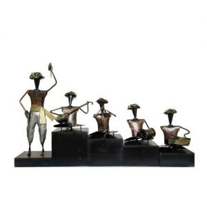 Musician Iron Wooden Base (Set OF 5)