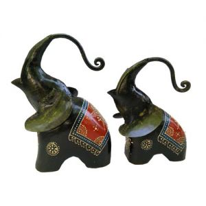 Elephant  Black (Set Of 2)