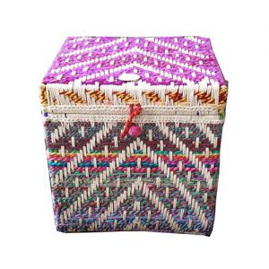 Iron Box Hand Woven Chindi And Soot (Set Of 2)