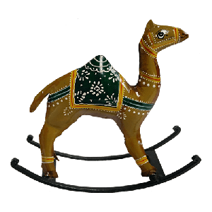 Hand Painted Iron Rocking Camel