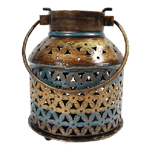 Iron painted T light pot (burni)
