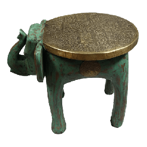 Elephant Stool Metal Fitted