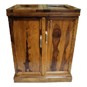 Handicrafted  Bar Cabinet in Natural Finish