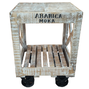 Wooden Iron Small Side Unit