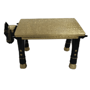 Wooden Horse Bench Metal Fitted DRM Finish