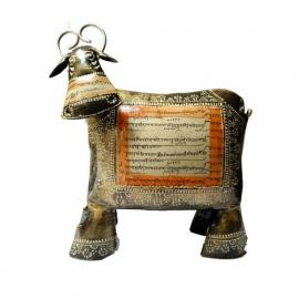 Iron Marwadi Cow Hand Painted